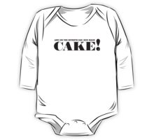 AND ON THE SEVENTH DAY, GOD MADE CAKE! (Black text) One Piece - Long Sleeve