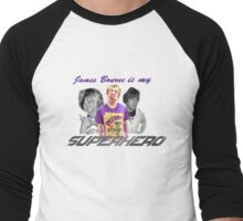 James Bourne Is My Superhero Men's Baseball ¾ T-Shirt