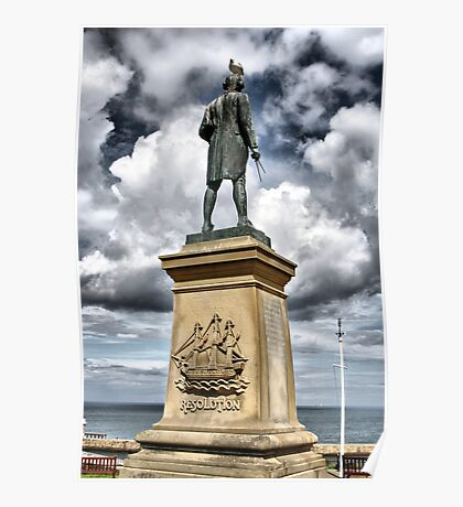 Captain Cook's Monument, Whitby, UK Poster