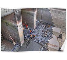 Pukaki Canal Inlet, Gate 18 - repair 4 Poster