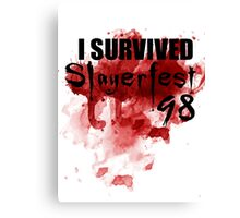 I Survived Slayerfest 98 Canvas Print