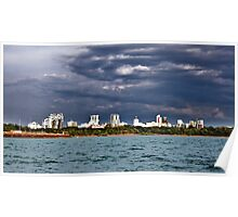 View from sea - Darwin City Poster