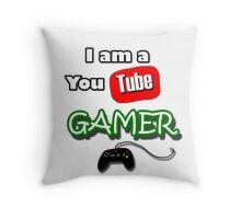 I am a YouTube GAMER Throw Pillow