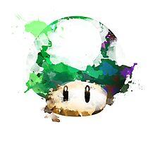 Watercolor 1-Up Mushroom Photographic Print