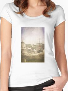 Charlestown harbour Women's Fitted Scoop T-Shirt