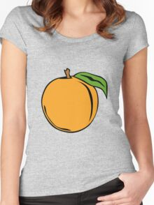 Peach Women's Fitted Scoop T-Shirt