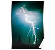 Lightning Strike Too Close Poster