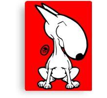 English Bull Terrier Smug Sit Canvas Print