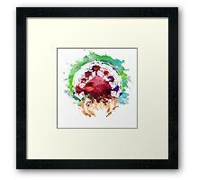 Watercolor metroid Framed Print