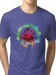 Watercolor metroid Tri-blend T-Shirt