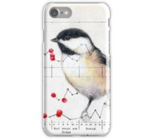 Chickadee and Berries iPhone Case/Skin