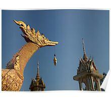 Temple sculptures, Hua Hin, Thailand. Poster