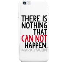 Mark Twain Book Lovers Inspirational Typography iPhone Case/Skin