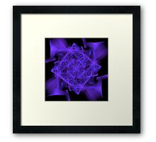 Facets in Purple Framed Print