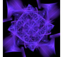 Facets in Purple Photographic Print