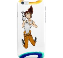 Chell falls for eternity iPhone Case/Skin