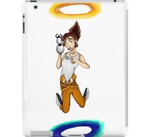 Chell falls for eternity iPad Case/Skin