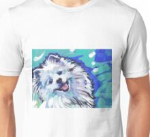 American Eskimo Bright Colorful Pop Art Unisex T-Shirt