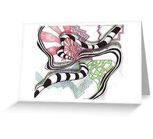 Spiraling Downward Greeting Card