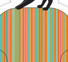Cat on a striped armchair Sticker