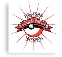 Elite Four Champion Red Canvas Print