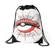 Elite Four Champion Red Drawstring Bag