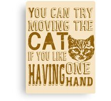 Funny Cat Poster Canvas Print