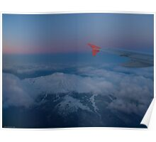 Mt.Etna from the airplane Poster