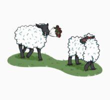 Romantic sheep Kids Tee