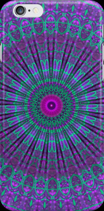 Purple Inspire mandala  by Vicki Field
