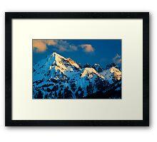 Winter Peaks Framed Print