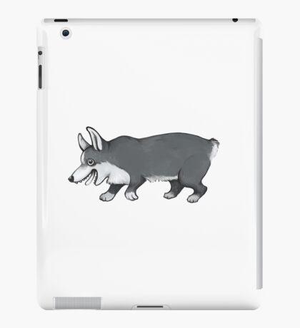 Grayscale corg iPad Case/Skin