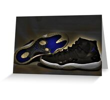 Nike Air Jordan XI Retro Space Jam  Greeting Card