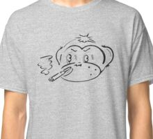 cigar smokin' monkey head outline Classic T-Shirt