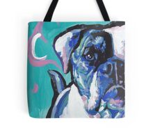 American Bulldog bright Colorful Pop Dog Art Tote Bag