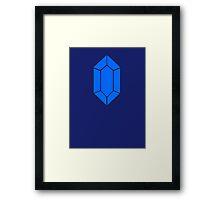 Blue Zelda Rupee Framed Print