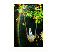 Apple Tree Swing Art Print