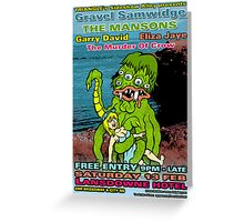 Sideshow Alley Presents Poster Greeting Card