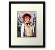 Anime School Girl Framed Print