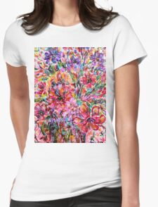 Floral Treasures Womens Fitted T-Shirt