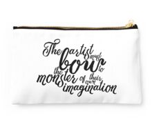 The Artist Must Bow - Typography Script Design Studio Pouch