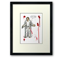 "Norman Stansfield (""Léon"") - I'm calm Framed Print"
