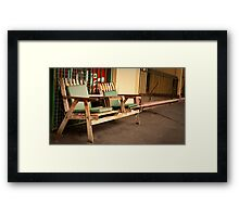 Deli chairs Framed Print