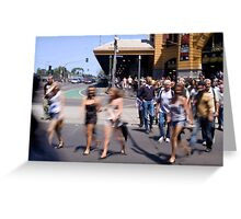 Summer in the city of Melbourne Greeting Card