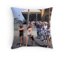 Summer in the city of Melbourne Throw Pillow
