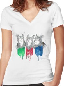Wolf Brothers Women's Fitted V-Neck T-Shirt