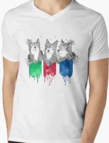 Wolf Brothers Mens V-Neck T-Shirt