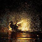 Golden splash by Alan Mattison
