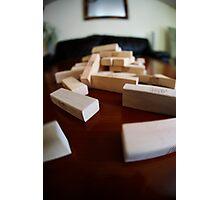Jenga Blocks Crash Photographic Print