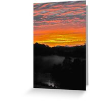 Sunrise - Manning River, Karaak Flat.  Greeting Card